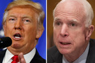 John McCain (right) believes Donald Trump could clear up 'in a minute' claims Barack Obama tapped the phones in Trump Tower during last year's election campaign.