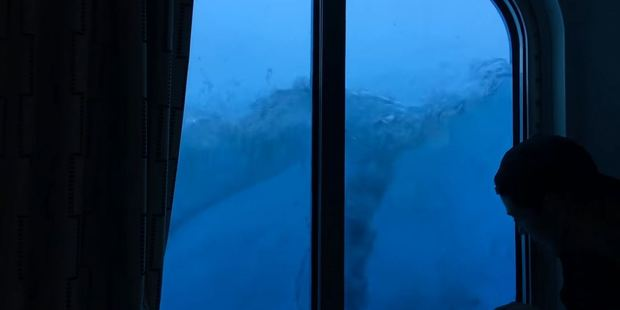 Loading Stephen Burke captured video during the storm from his room on the third deck. Photo / You Tube