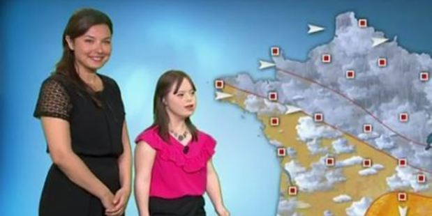 Loading Melanie Segard fulfills her lifelong dream to be a France 2 weather presenter. Photo / France 2