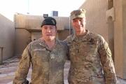 Brigadier Hugh McAslan, left, and his boss, US General Joe Martin. Photo / Audrey Young