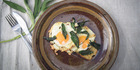 Sage fried eggs. Photo / Michael Craig
