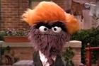 Donald Grump, the trashiest and grouchiest of grumps on Sesame Street.