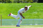 Scott Kuggeleijn bowling for Northern Districts against Canterbury. Photo/Photosport