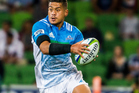 Augustine Pulu runs with the ball during the round 1 Super Rugby match between the Melbourne Rebels VS The Blues. Photo / photosport