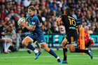 Blues first-five Piers Francis, pictured on the burst against the Chiefs, is returning to England at the end of the season. / Photo: Photosport