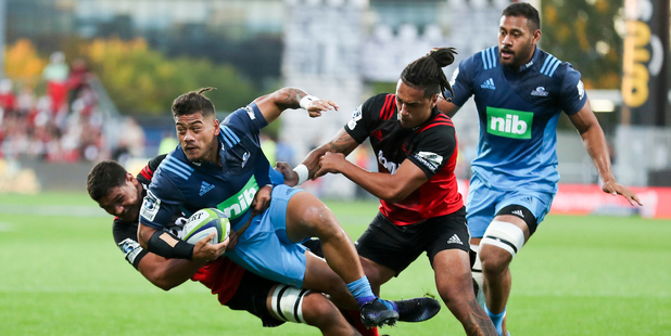 The continued excellence of Blues halfback Augustine Pulu was one consolation for Tana Umaga after his team's defeat to the Crusaders. / Photo: Photosport