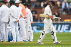 Kane Williamson heads back to the dressing room after being dismissed by Morkel on Day 3 of the 2nd test match between New Zealand Black Caps and South Africa Proteas. Photo / photosport