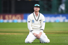 James Neesham reacts after dropping a catch in the second test. Photosport