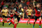 Digby Ioane runs in a try for the Crusaders. Photo / Photosport