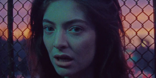 Loading Still from the video for Lorde's comeback single 'Green Light'.