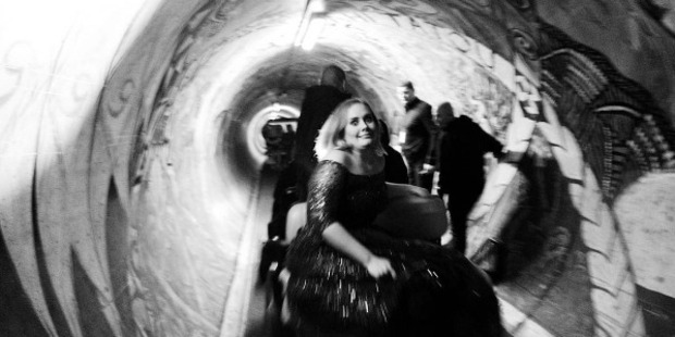 Adele before going on for her second concert at Mt Smart Stadium. Photo / Instagram via @adele