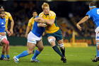 Peter Kimlin in action for Australia against Italy. Photo/Photosport