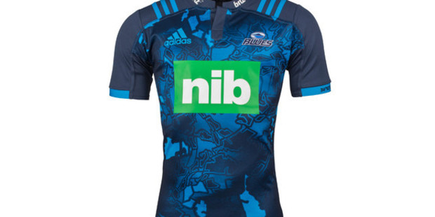 """The """"battleground coordinates"""" on the arm of the Blues' special new rugby jerseys give the location of Mt Eden Prison."""