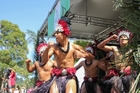 A Cook Islands team lets rip at last year's festival. Photo / Eddie Berla