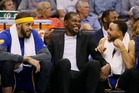 Players such as Golden State stars Kevin Durant, centre, and Stephen Curry, right, spending too much time off court is irritating some. Photo / AP