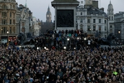 """Sadiq Khan told the thousands who filled Trafalgar Square yesterday that """"individuals who try to destroy our shared way of life will never succeed"""". Photo / AP"""