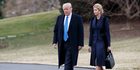 Donald Trump clearly sees no wrong in ensconcing his daughter Ivanka in the White House with full security clearance. Photo / AP