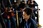 South Korea's ousted leader Park Geun Hye arrives at a prosecutor's office in Seoul, South Korea. Photo / AP