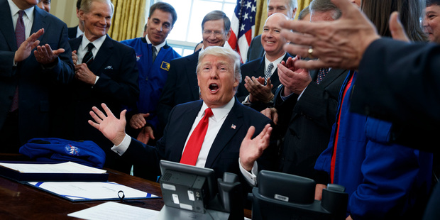 US President Donald Trump speaks in the Oval Office of the White House. Photo / AP