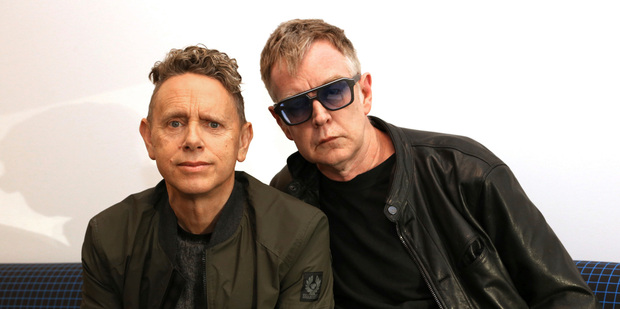 Martin Gore And Andy Fletcher of Depeche Mode. Photo / AP