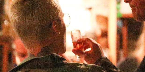 Justin Bieber enjoys a drink at The Blue Door. Photo: AKM-GSI/Backgrid