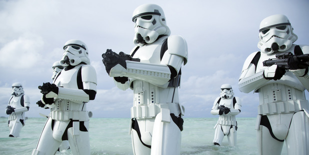 Stormtroopers from Rogue One: A Star Wars Story. Photo / Supplied