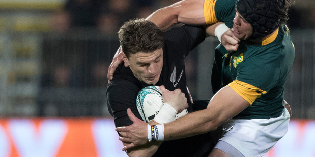 The All Blacks and Springboks could met in pool play at the 2019 Rugby World Cup. Photo / Brett Phibbs