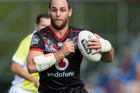 Simon Mannering of the Warriors in action in the NZ Warriors v Melbourne Storm NRL rugby league match. Photo / Jason Oxenham