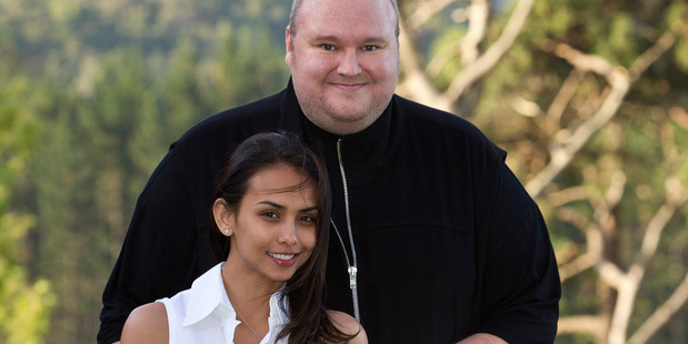 Kim Dotcom and ex-wife Mona Dotcom at their former home in Coatesville. He has blamed the extradition case against him as impacting on their relationship. Photo / Michael Craig