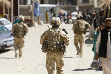 New Zealand soldiers on patrol in Bamyan.
