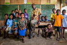 Louis Kumana, a teacher in Barai, is a passionate believer in the power of education to create opportunities for children. Photo / Mike Scott