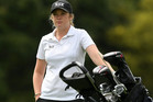 Amelia Garvey during the New Zealand Stroke Play Championship Golf Tournament at Hastings Golf Club. Photo / Kerry Marshall
