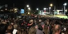 People queued for over an hour to get onto the train platform after the Adele concert on Thursday night. Photo / Emma Freeman