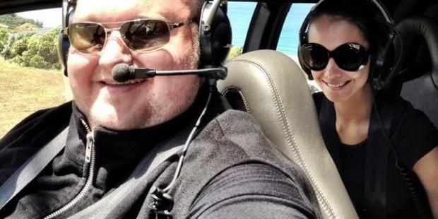 Loading Kim Dotcom and former wife Mona. Attempts to deport Dotcom would likely see Mona and their children targeted.