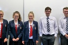 EFFORT: The combined PNGHS and PNBHS team (from left); Isabella Patrick, Sophie Brokenshire, Rebecca Rowe, Harrison Ward and Daniel Davidson.