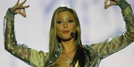 Singer/actress Holly Valance performs live on stage. Photo / Getty