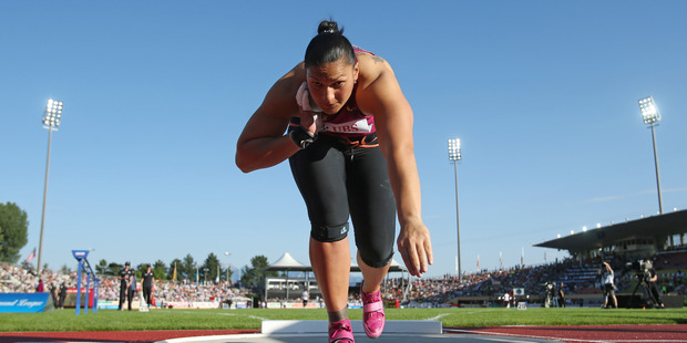 Valerie Adams competes in the IAAF Diamond League Athletics meeting in Lausanne. Photo / Getty Images