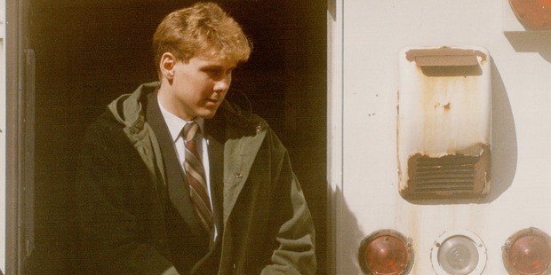 Paul Bernardo after he was charged with first-degree murder. Photo / Getty Images