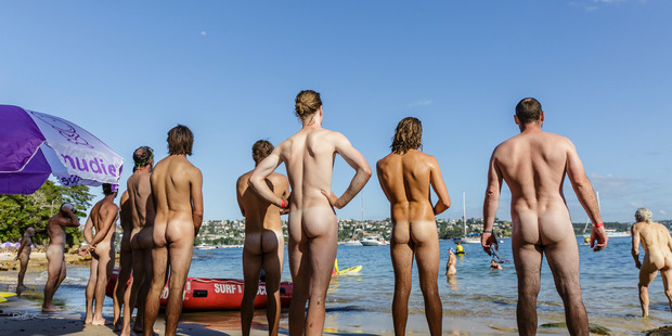 More than 1000 swimmers stripped off for the fifth annual Sydney Skinny ocean swim at Cobbler's Beach. Photo / Getty Images