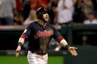 Jason Kipnis celebrates after scoring a run during the World Series. Photo / Getty Images
