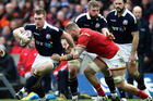 Stuart Hogg of Scotland breaks clear with the ball during the Six Nations match against Wales. Photo/Getty Images