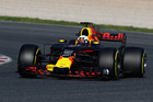 Daniel Ricciardo during Formula One winter testing at Circuit de Catalunya. Photo / Getty Images