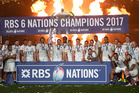 England remain the top dogs in the Northern Hemisphere after securing back-to-back Six Nations titles. Photo / Getty Images.