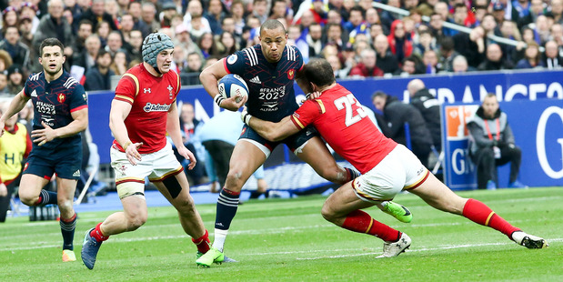 Gael Fickou of France is selected at second-five in Campbell Burnes' Six Nations Form XV this week. Photo / Getty Images.