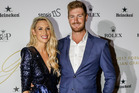 Sharon and Nick MAFS attends the 'Glamour on the Grid' Grand Prix party this week in Melbourne, Australia. Photo / Getty