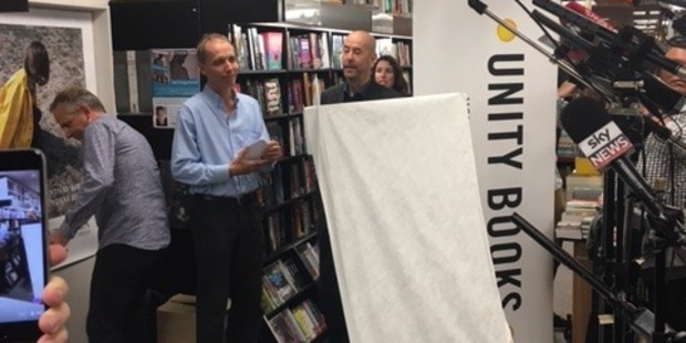 Nicky Hager unveiling his book at a launch in Wellington. Photo / Nicholas Jones