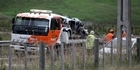 Watch: Three vehicle crash near Hastings.