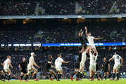 Jerome Kaino and Courtney Lawes compete the last time the All Blacks played England. Photo / photosport.nz