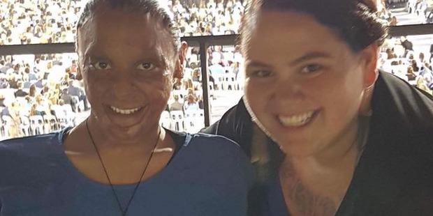 Maiz Marshall-Amai and Letitia Butler at Thursday night's Adele concert. Photo/Facebook