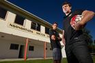 Ngongotaha AFC's new captain Eamon O'Donoghue (right) and coach Shane Davis. Photo/Ben Fraser